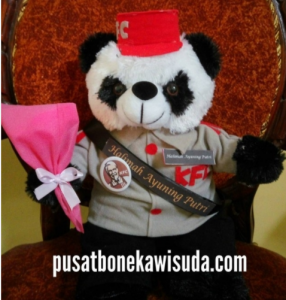 Boneka Untuk Promosi Perusahaan atau Boneka Promosi, boneka perusahaan, souvenir perusahaan bentuk boneka, hadiah kelulusan pelatihan bentuk boneka, KFC,